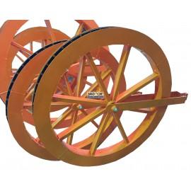Одинарный раскаточный кабельный ролик для ВОЛС ВЛ ЛЭП