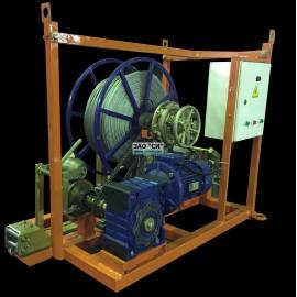 Электрическая лебедка для прокладки кабеля ЭЛПКСИ.35.У.К (3500 кг)