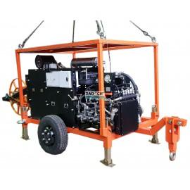 Натяжная машина, лебедка ЛСИ.70НМ с тяговым усилием 70 кН